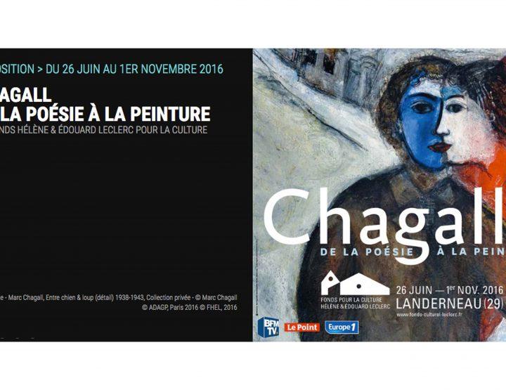 Landerneau : 300 œuvres du peintre Marc Chagall exposent au Fonds Hélène et Edouard Leclerc